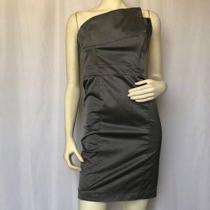 Smokey Grey Strapless Dress
